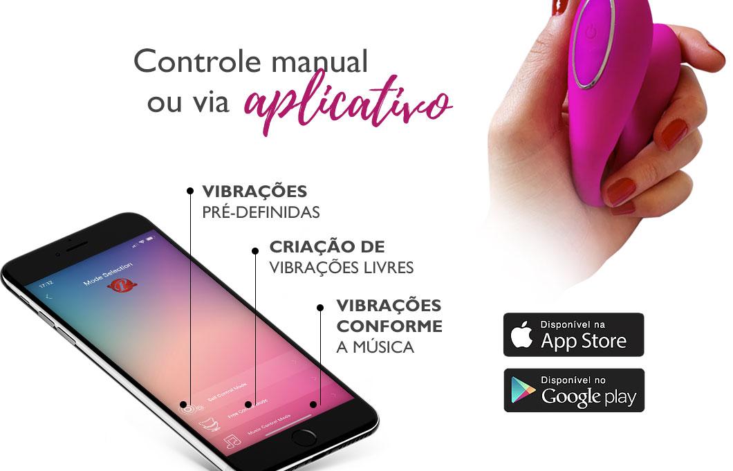 Controle manual ou via aplicativo