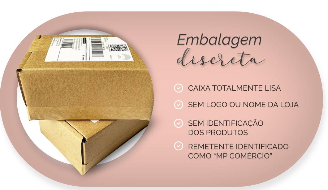 Embalagens 100% discretas