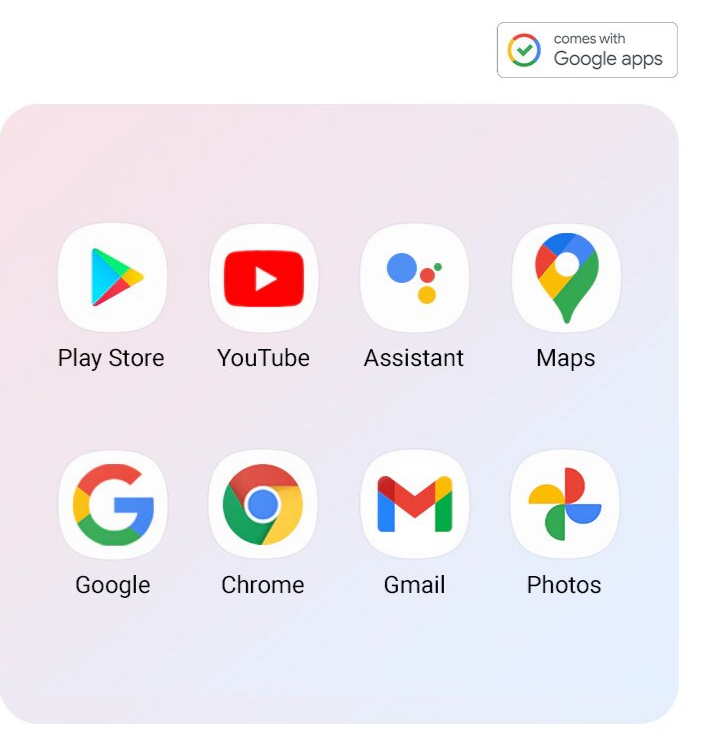 Google apps installed on Galaxy A32 are shown (Play Store, YouTube, Assistant, Maps, Google, Chrome, Gmail, Photos)