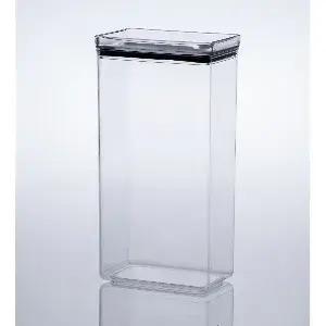 Pote Hermético Transparente Lumini Retangular feito em Acrílico Resistente com capacidade de 2.600 litros