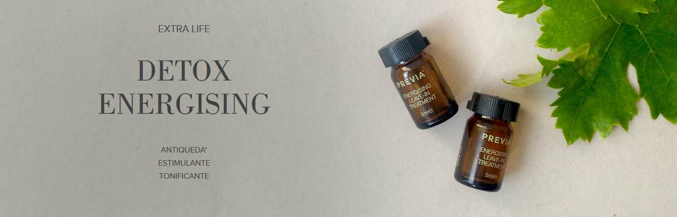 EXTRA LIFE DETOX energising     Antiqueda*     estimulante     tonificante
