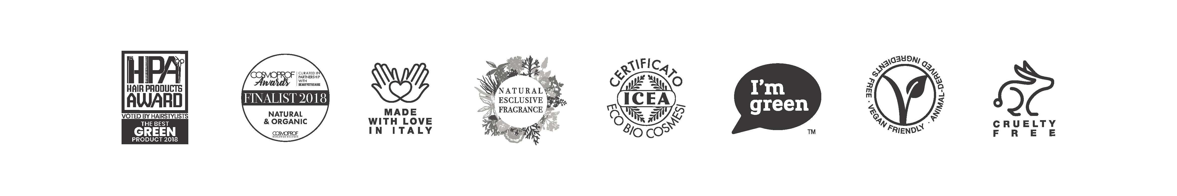 Selos Previa, HPA Hair Prodcut Award, ICEA, I´m Green, Vegan Friendly, Cruelty Free