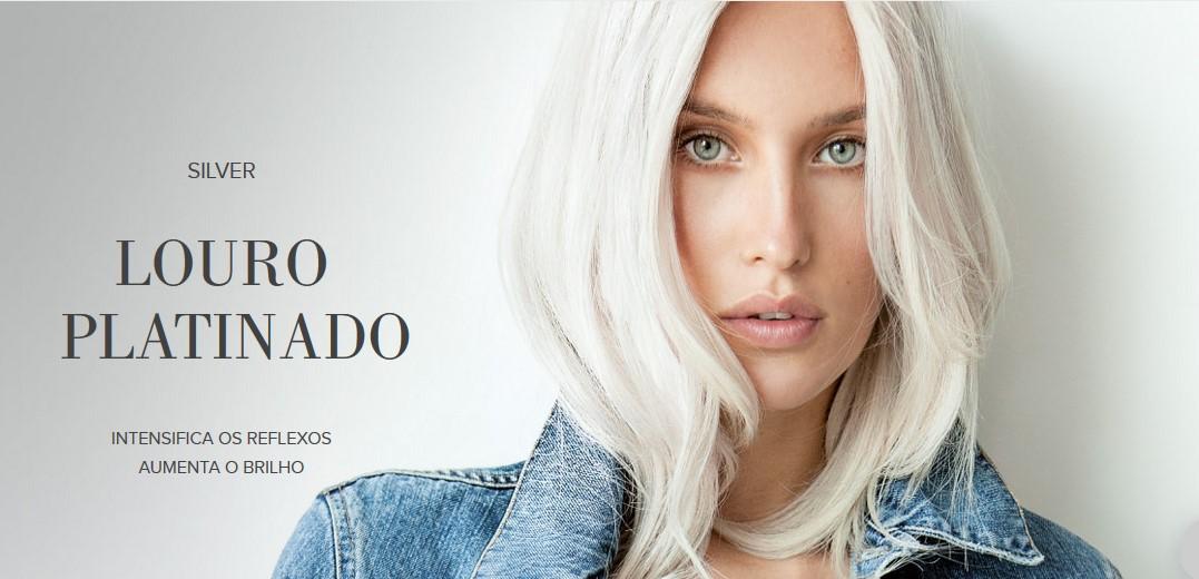 A Natualista - Previa Linha Silver para cabelos louros ou grisalhos. Intensifica os reflexos aumenta o brilho e elimina o amarelado