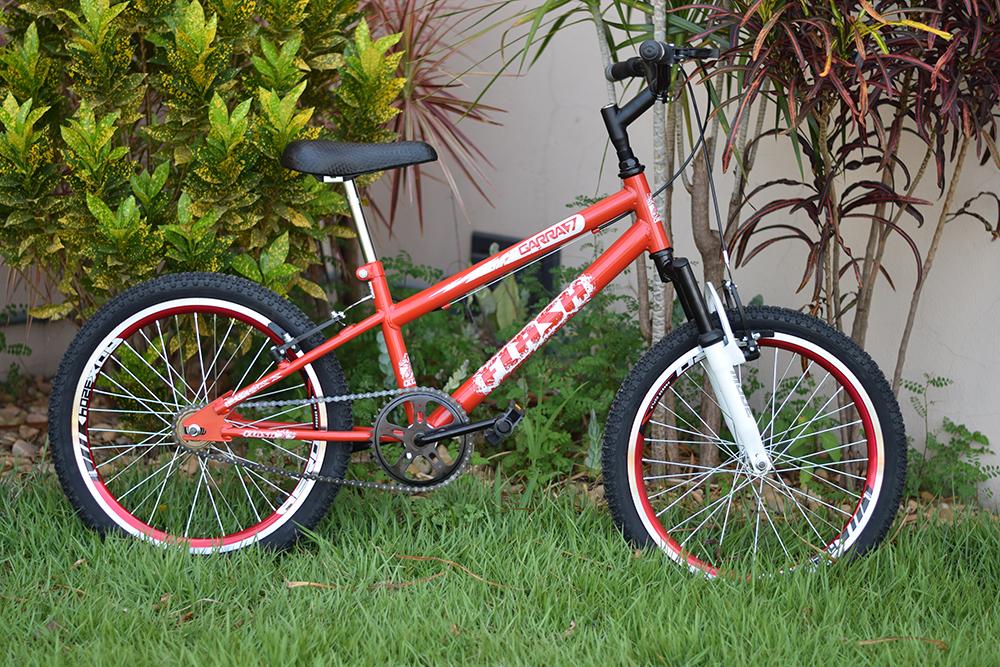 bicicleta 20 infantil vermelha