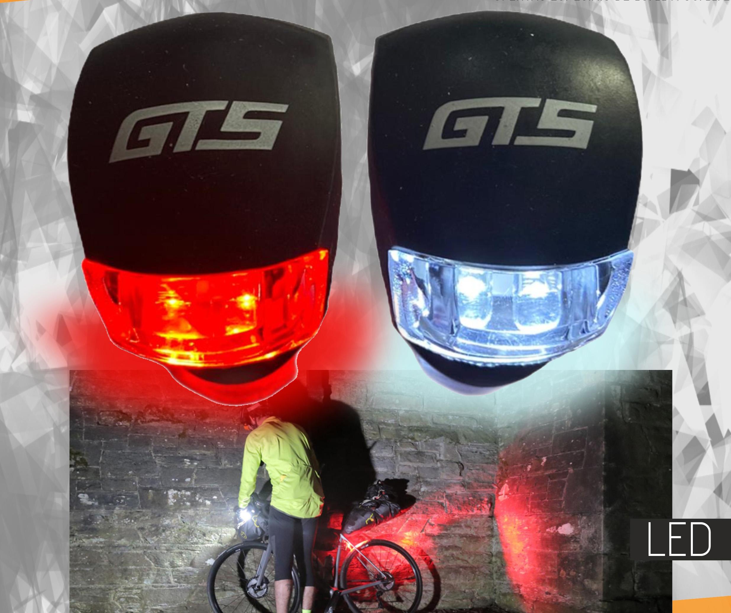 Luz Sinalizador Noturno Bicicleta GTS dianteira e traseira