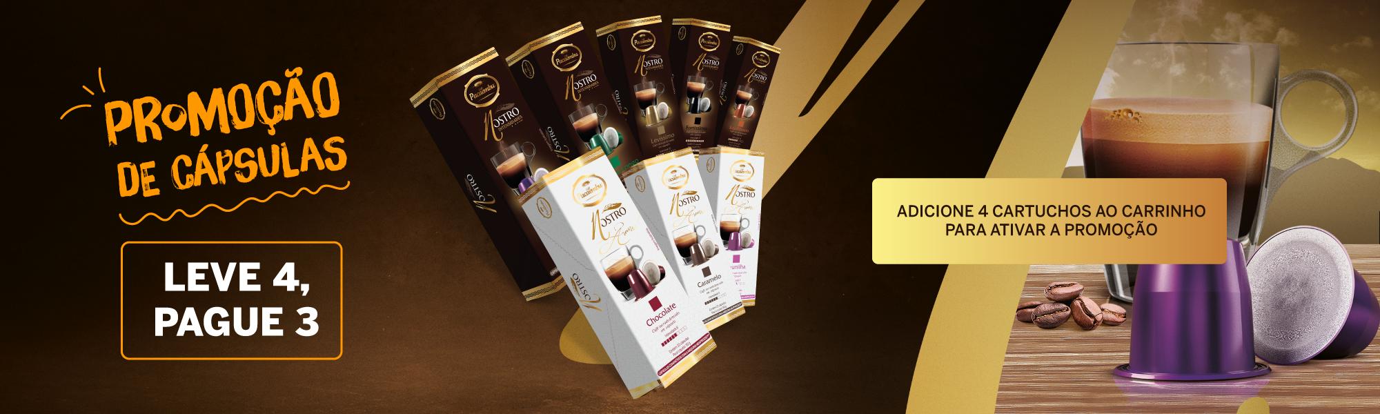 promoção capsula café pacaembu nespresso