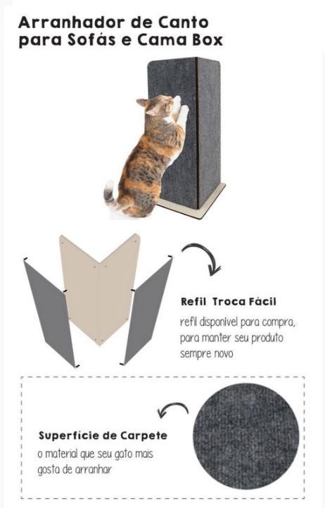 Arranhador Gato Protetor Canto de Sofá
