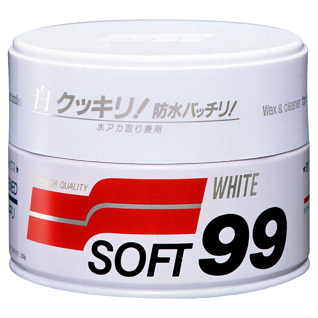 Foto da Cera Carnaúba para Carros Brancos - 350g Soft99 White Wax Cleaner