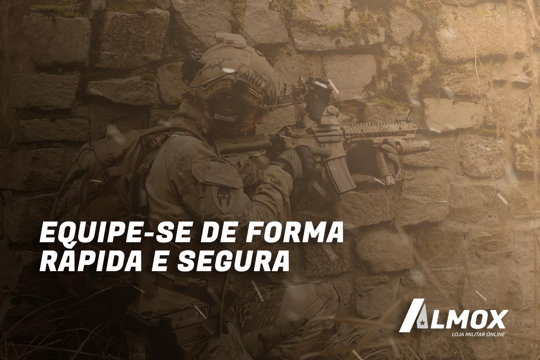 Almox Militar, loja de artigos militares e equipamentos. Está pronto para vir com a gente?