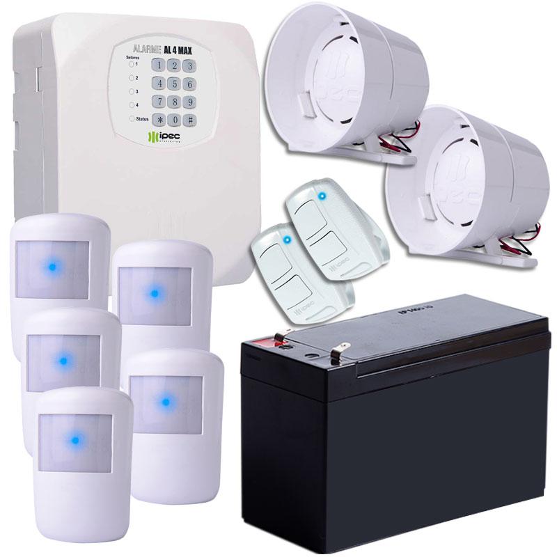 Kit Alarme Residencial Sem Fio Passivo Ipec Com Bateria