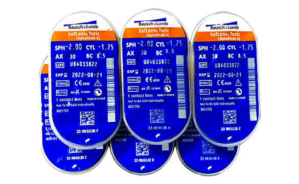 Unidade de lente de contato Soflens Toric