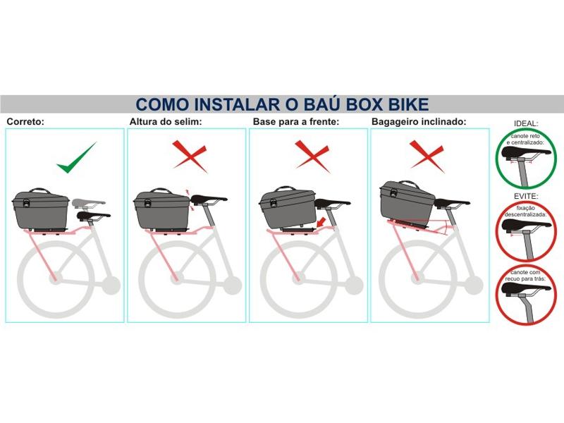 como instalar o baú para bicicleta