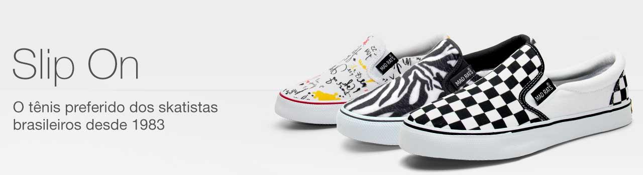 Tênis de Skate Slip On
