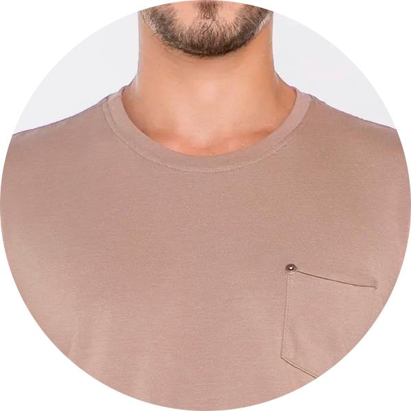 Camiseta Bege Masculina