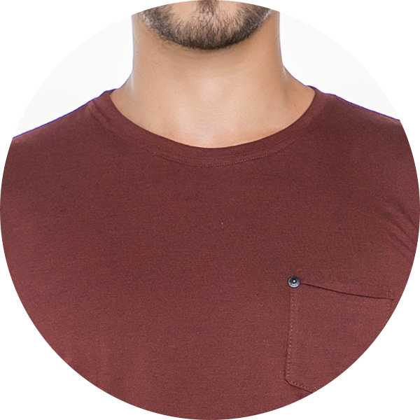Camiseta Masculina com bolso