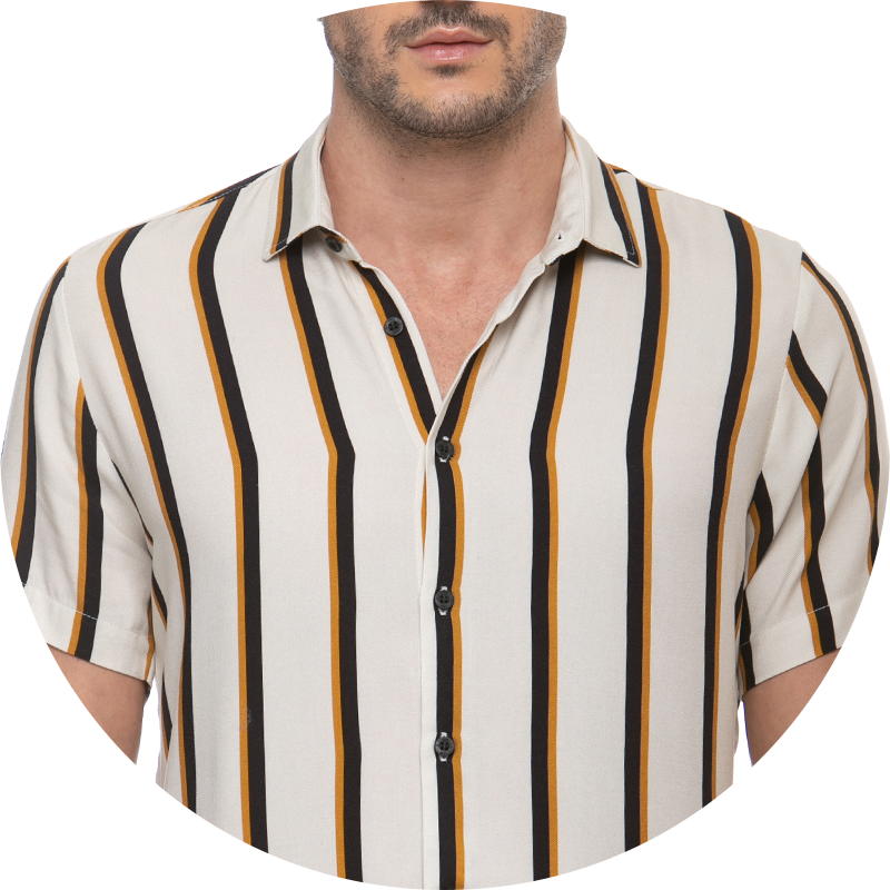 camisa social detalhes