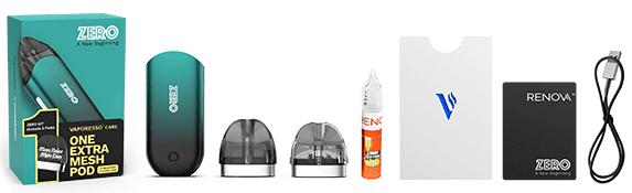 POD Vaporesso Renova Zero 2 Starter Kit 650mAh (Cigarro Eletrônico) -  vem na caixa