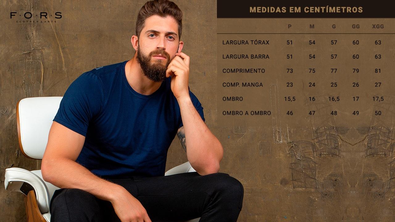 tabela de Medidas das Camisetas FORS