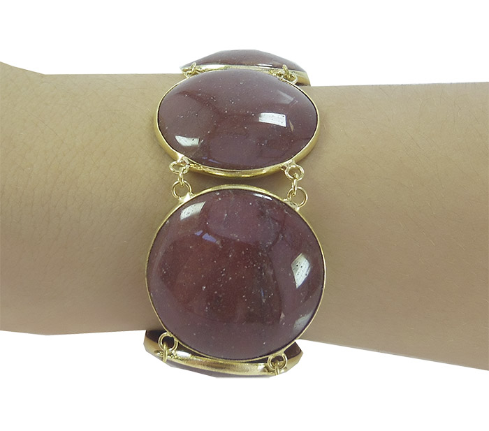 Bracelete de jaspe vermelho