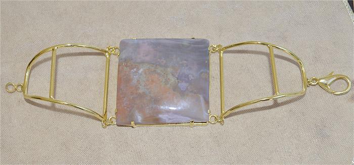 bracelete de jaspe rosa mesclada