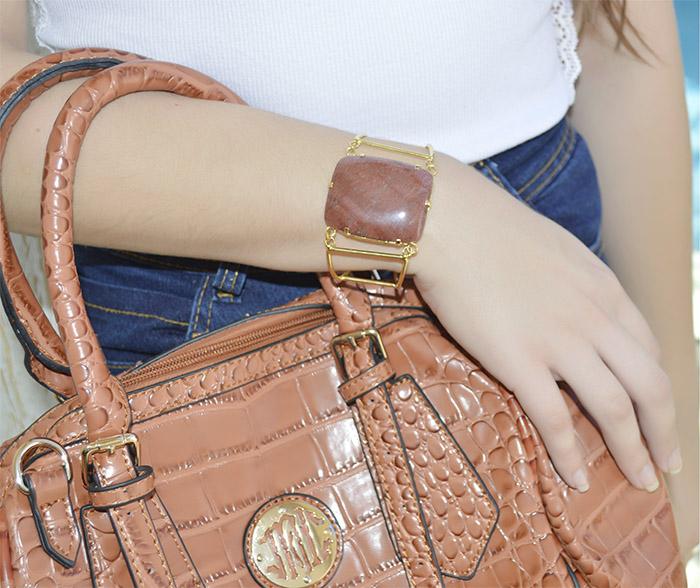 bracelete de pedra jaspe