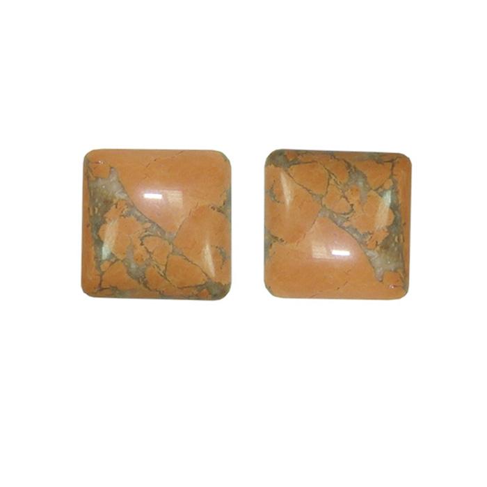 Cabochão de pedra laranja