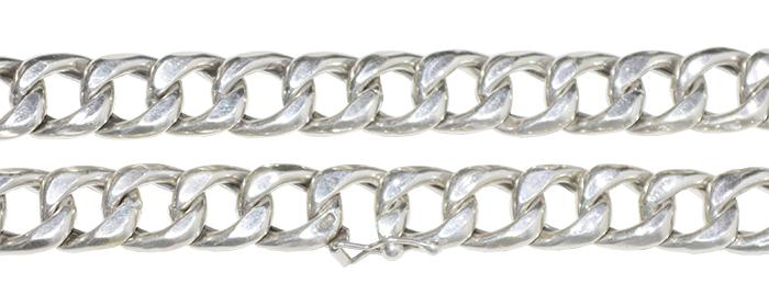 corrente de prata elo vazado