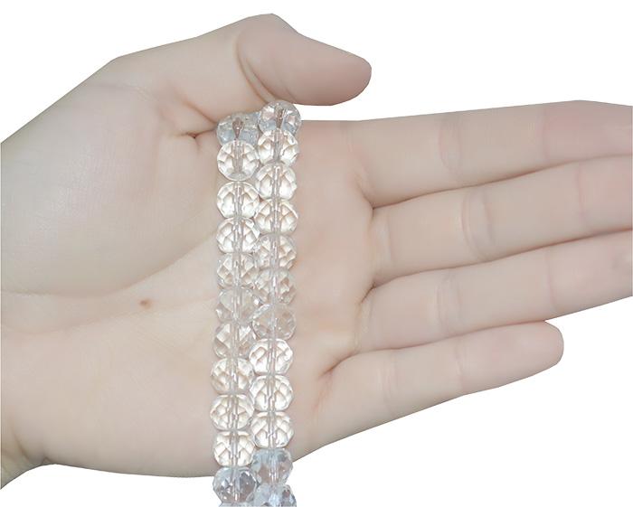 cristal de vidro transparente
