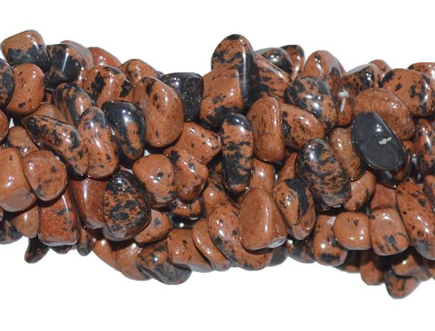 Cascalho de obsidiana mogno