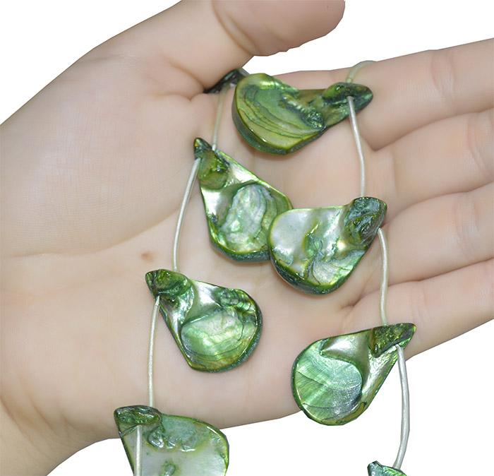 madrepérola verde gota