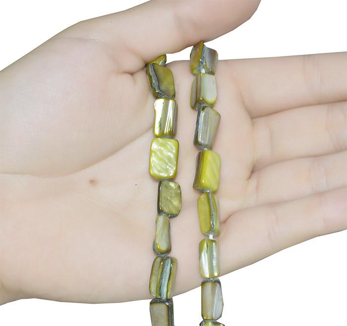 Fio de madrepérola verde oliva