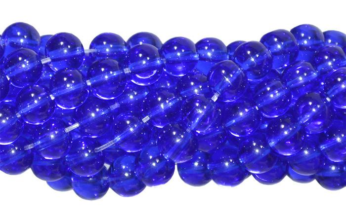 Fio de murano azul anil 5mm