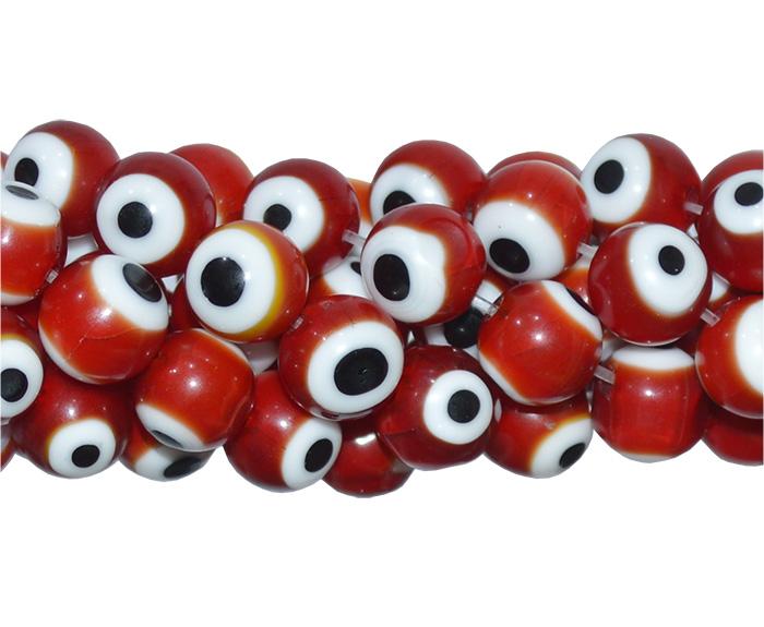 olho grego vermelho
