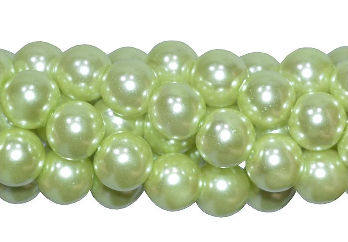 pérola de vidro verde