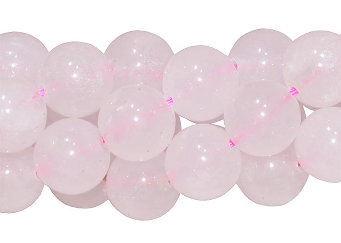 Fio de quartzo rosa 10mm