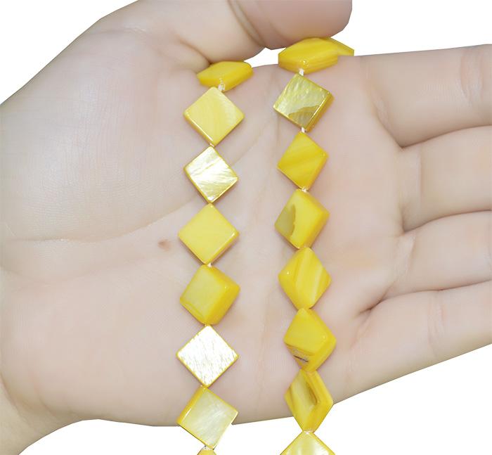 Fio de madrepérola amarela