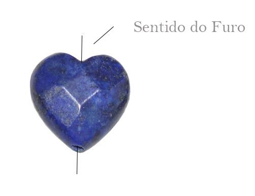 lápis lazuli formato coração