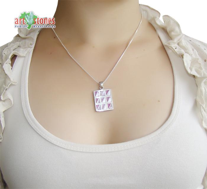 Pingente de Madrepérola com prata 925