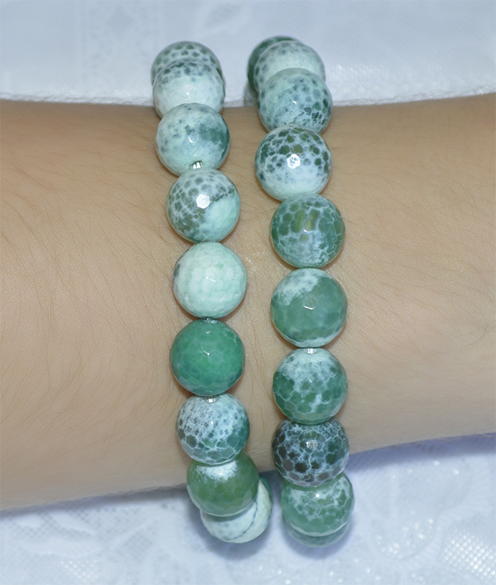 pulseira de ágata verde