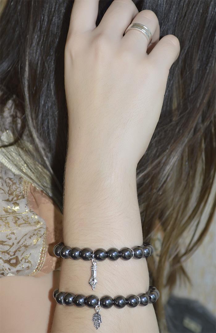 pulseira de pedra de proteção