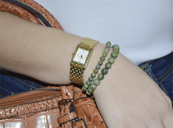 pulseira de pedra jaspe