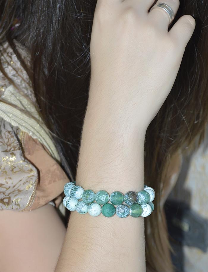 pulseiras de ágata natural