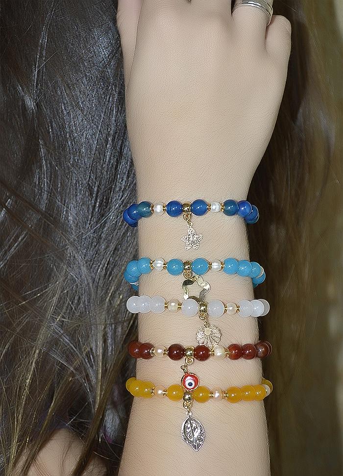 pulseiras em pedras naturais