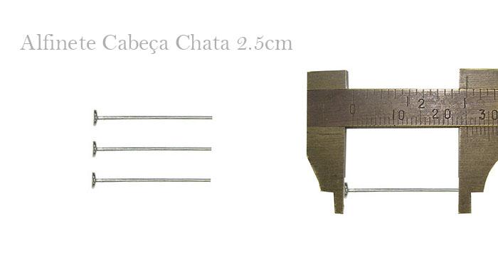 Alfinete Cabeça Chata 2.5cm