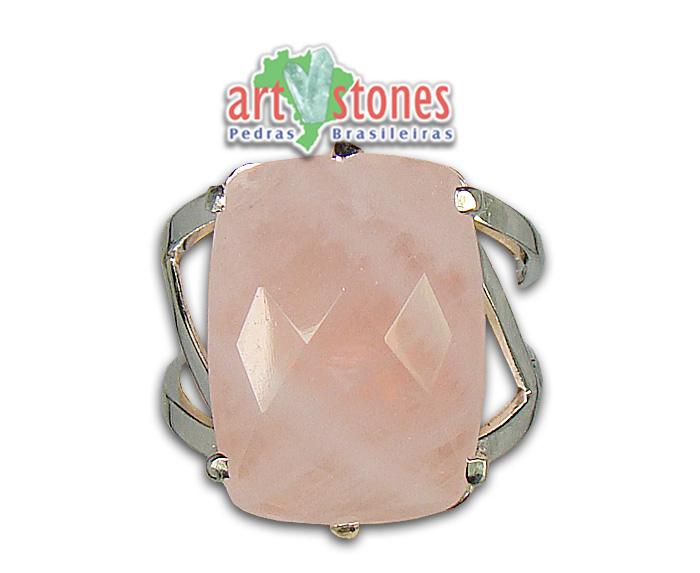 Anel quartzo Rosa