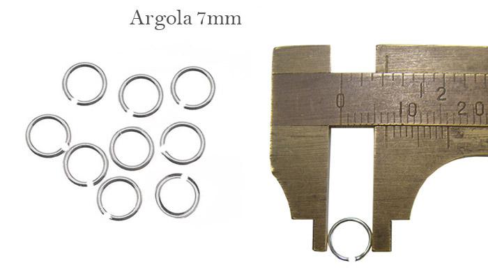 Argola Folheada 7mm aberta