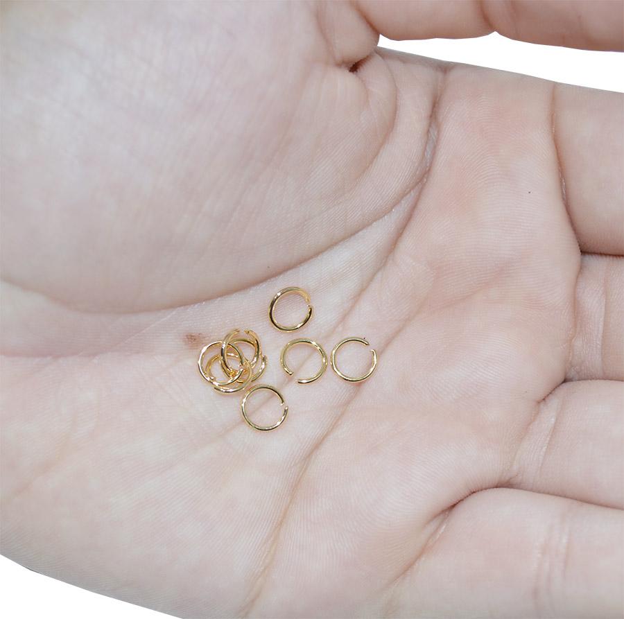 argola 6mm folheada a ouro