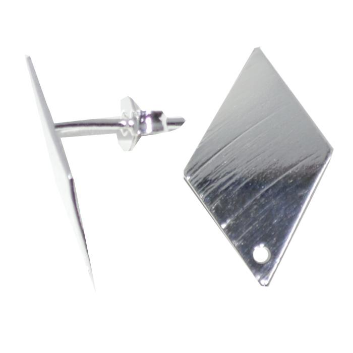 Base de brinco triangulo folheada a prata