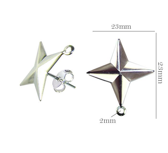 Base de Pingente folheada estrela