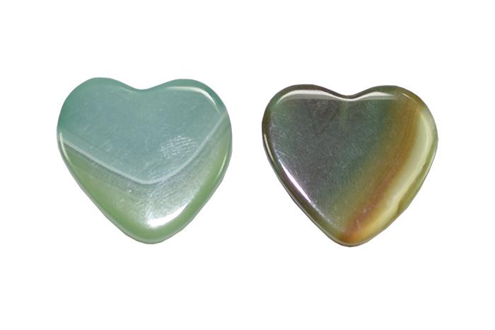 Coração ágata verde